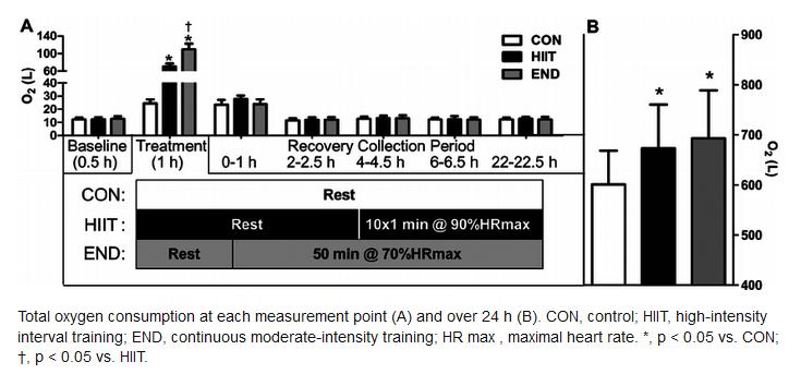 Courbe glucose vs lipide au cours du temps. article HIIT et entrainement fractionné