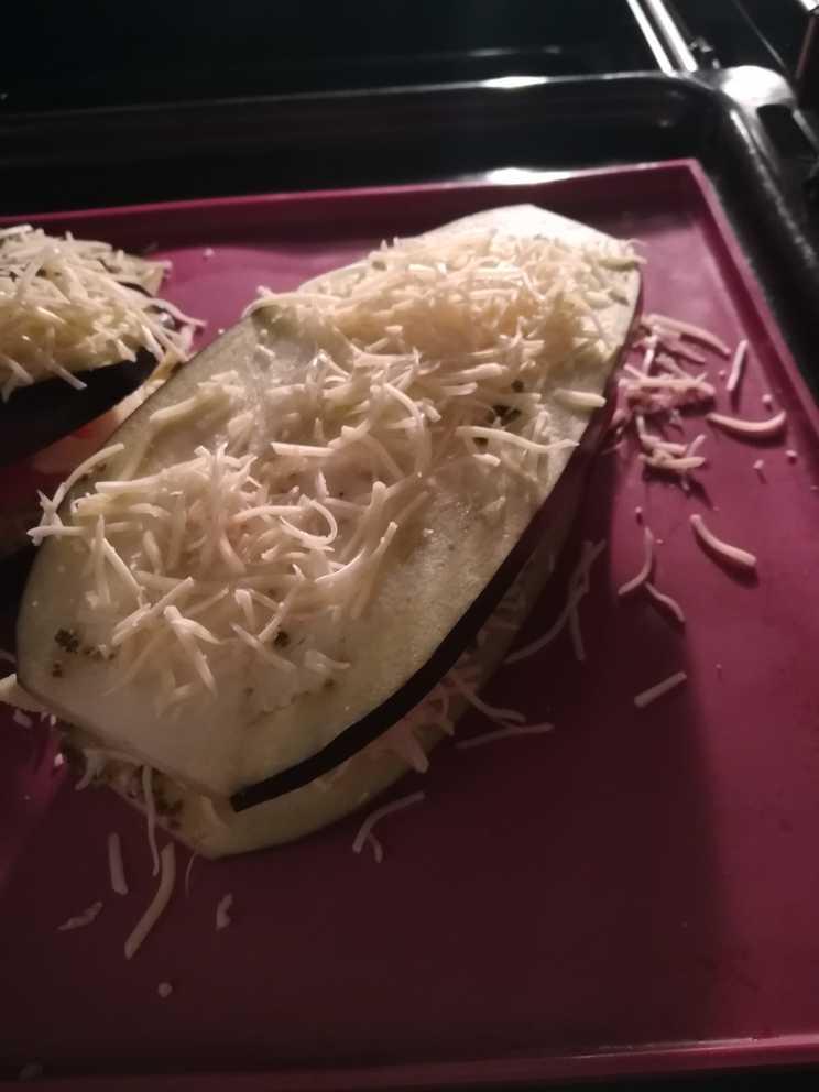 croque monsieur aubergine avant cuisson
