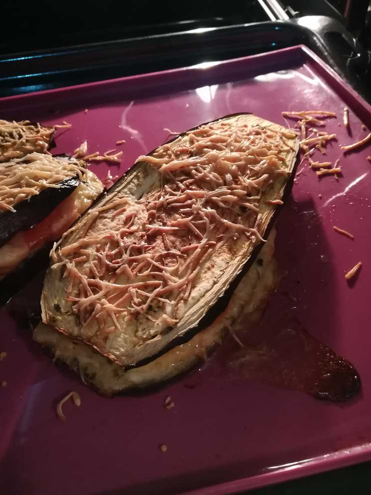 croque monsieur aubergine cuit