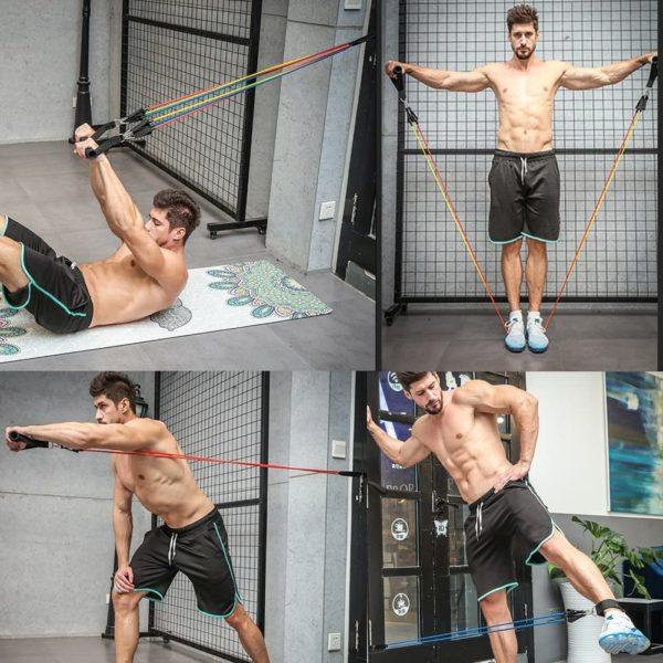 set elastiques musculation 3