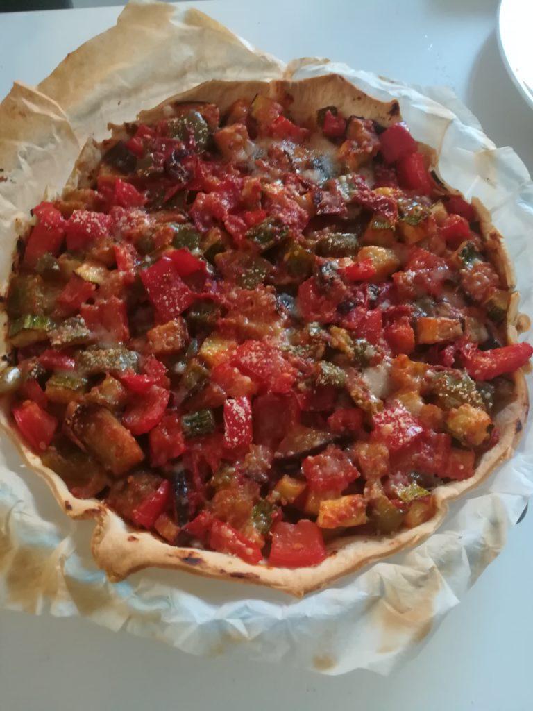 tarte aux légumes du soleil cuite