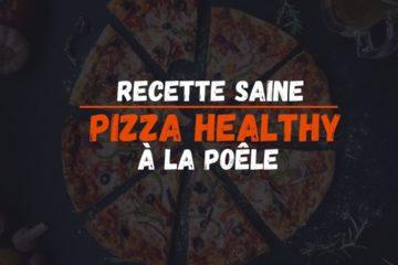 recette healhty pizza à la poêle